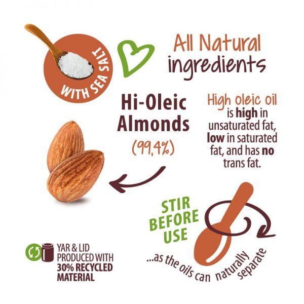 Nibble Time Mandelcreme 100% natürlich und ohne Palmöl