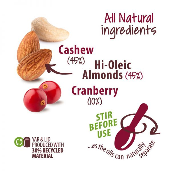 Nibble Time Cashew-Mandeln-Cranberry-Creme ohne Palmöl