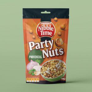 Nibble Time Partynüsse im knusprigen Teigmantel und Kräutern der Provence